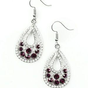 Purple earring Paparazzi